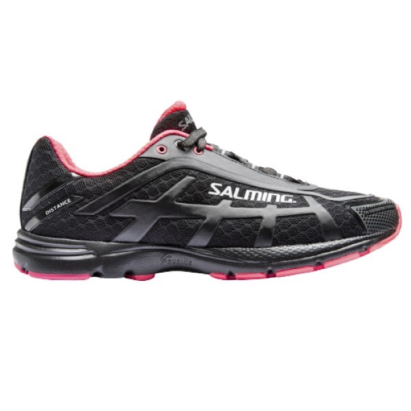 Salming Distance 4 - Womens Running Shoes - Black/Pink