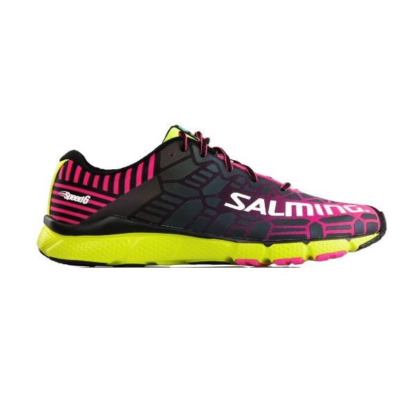Salming Speed 6 - Womens Running Shoes - Pink/Safety Yellow