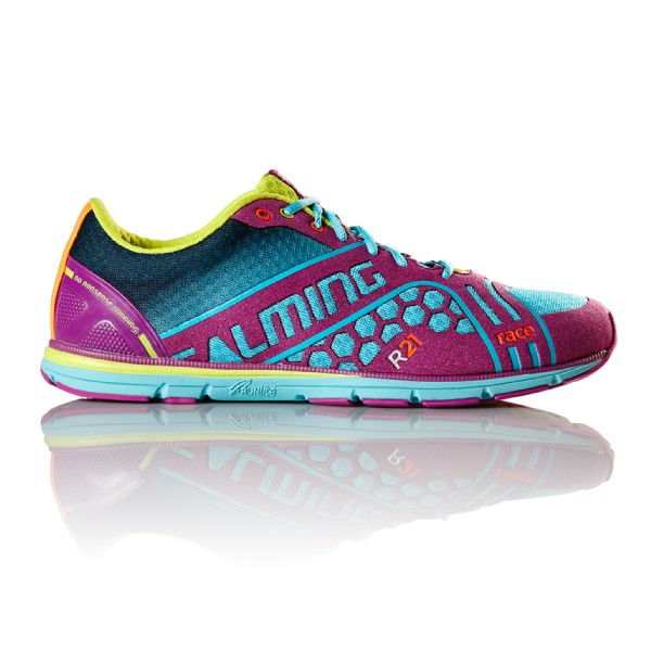 Salming Race 3 - Womens Running Shoes - Turquoise/Cactus Flower
